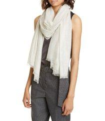 women's brunello cucinelli metallic cashmere blend scarf