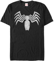 marvel men's venom distressed venom chest logo short sleeve t-shirt