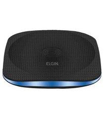 carregador wireless de mesa para celular elgin usb preto