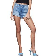 women's good american good curve high waist denim shorts