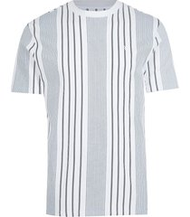 river island mens big & tall navy rr stripe slim fit t-shirt