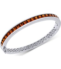 citrine bangle bracelet (7 ct. t.w.) in sterling silver