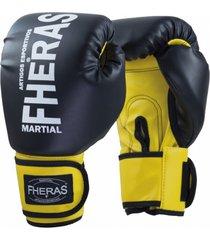 luva boxe muay thai fheras new orion pró preto/amarelo