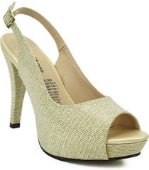 priceshoes calzado dama ejecutivo tacon 542834oro