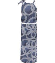 geisha 07046-40 dress halter aop circle blauw