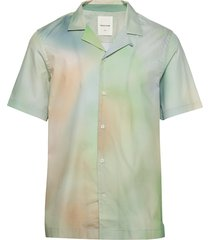 brandon shirt overhemd met korte mouwen multi/patroon wood wood