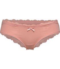 cotton brasilian trosa brief tanga rosa hunkemöller