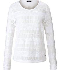trui met ronde hals en lange mouwen van basler wit