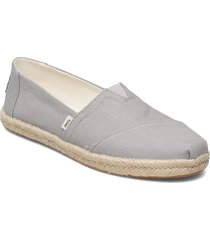 drizzle grey slubby woven loafers låga skor grå toms