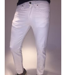 jean blanco mistral white slim fit