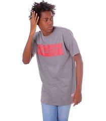 camiseta mitchell & ness estampada box logo cinza - kanui