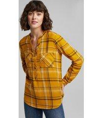blusa de cuadros amarillo esprit