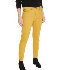 jeans pierna pitillo liso mostaza curvi