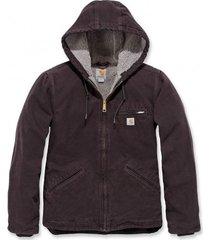 carhartt jas women sandstone jacket deep wine-xs