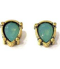 brinco armazem rr bijoux mini gota cristal swarovski - feminino