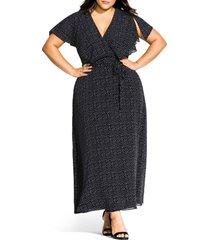 plus size women's city chic flirty pin spot short sleeve dress