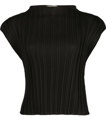3.1 phillip lim pleated cropped t-shirt - black