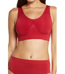 women's wacoal b smooth seamless bralette, size 32 - red