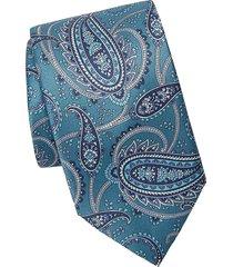 brioni men's floral paisley tie - red blue multi