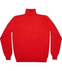 maglione da uomo, lanieri, 100% cashmere rosso acceso, autunno inverno | lanieri