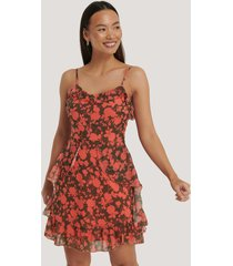 trendyol floral printed mini dress - multicolor