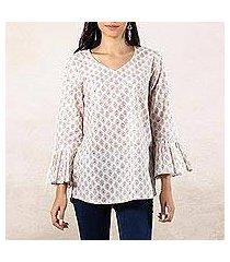 cotton blouse, 'russet breeze' (india)