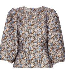 harriet blouse blouse lange mouwen blauw second female