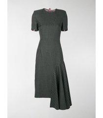 thom browne chalk stripe pencil dress