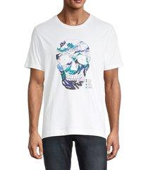 robert graham men's lauderdale skull graphic t-shirt - white - size s