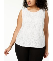 kasper plus size lace top