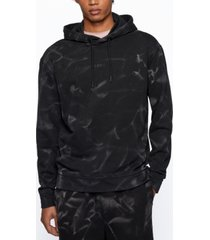 boss men's relaxed-fit french terry hoodie