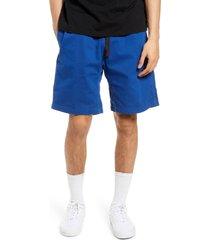 men's gramicci cotton shorts, size large - blue