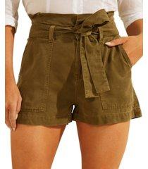 guess janna paperbag-waist shorts
