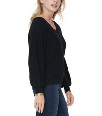 nydj dolman-sleeve v-neck sweater
