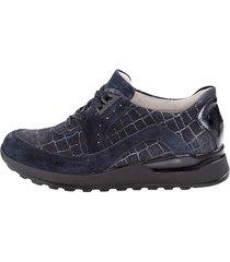 skor för breda fötter waldläufer mörkblå