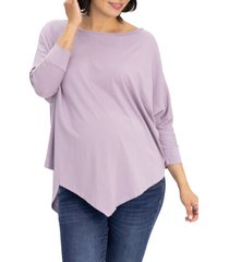 angel maternity loose fit maternity t-shirt, size large in purple at nordstrom