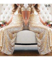 new women's backless sequins floor length evening party dress sv48