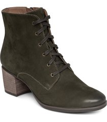 aetrex stella bootie, size 7.5-8us in olive faux patent leather at nordstrom