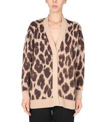 anna molinari sweater with animal print