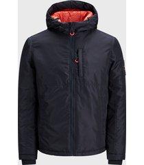 chaqueta jack & jones reversible jorfaster jacket ltn azul - calce regular