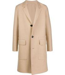 ami three-button coat - neutrals
