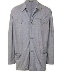 yohji yamamoto pre-owned summer yoke jacket - grey