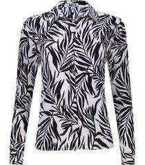 camisa hojas fondo blanco color blanco, talla xs