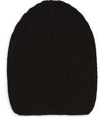 rib-knit wool-blend beanie