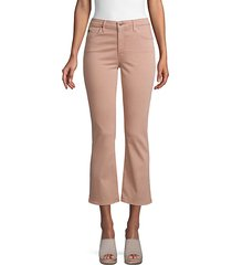 jodi high-rise crop flare jeans