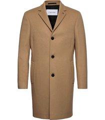 wool cashmere crombie coat yllerock rock beige calvin klein