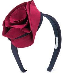 il gufo oversized rose headband - blue