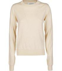 maison margiela ecru cotton sweatshirt