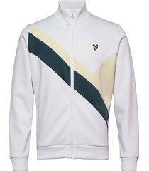 archive panel funnel neck sweat-shirt tröja vit lyle & scott