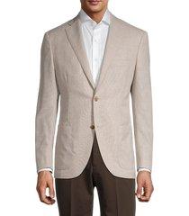 luciano barbera men's standard-fit hopsack wool jacket - cream - size 52 (42)